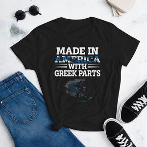 Made in America With Greek Parts Women's T-Shirt